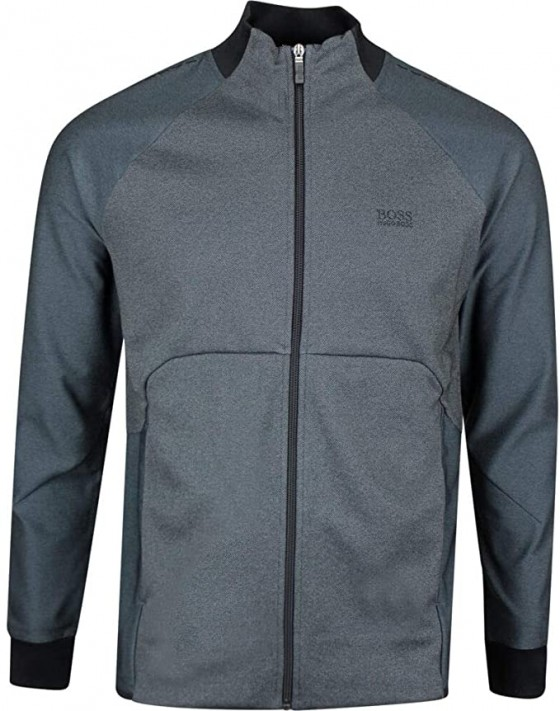 <p>Flat Blade Style Collar - Full-Zip Track Jacket Design - Added Stretch - Technical Interlock Fabric - Two Front Zip Pockets - Enlarged Logo at Chest - BOSS Athleisure Golf Collection</p>