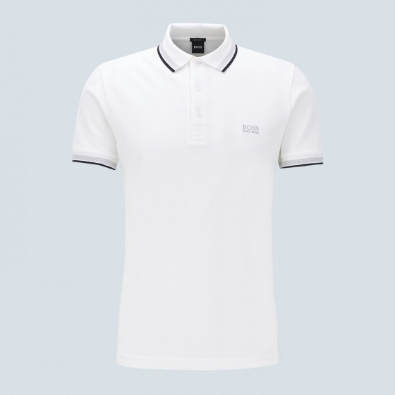 <p>Look the part on the course, this Hugo Boss Paddy Polo shirt will get you at least 3 shots.</p>