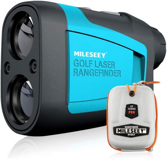 The perfect gift for any golfer, this laser sight golf shot distance finder is a must-have accessory in any golf bag.