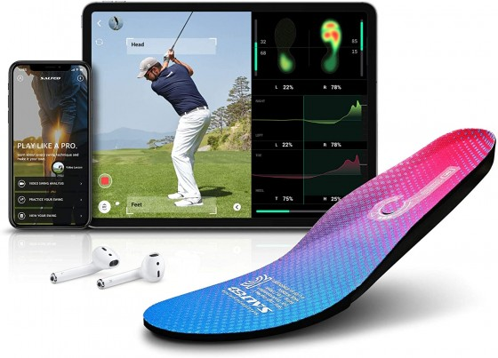 Smart Golf Shoe innersole, reads your swing and sends it to your phone, the ultimate golfing gadget.